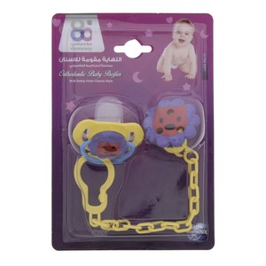 Mom Easy Baby Pacifier with Safety Chain  1pc