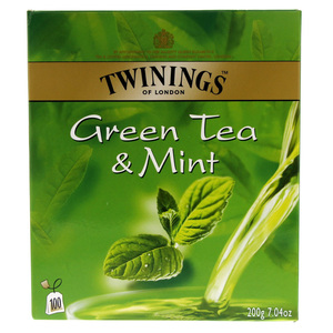 Twinings Green Tea & Mint 100 Bags