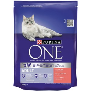 PURINA ONE Adult Cat Salmon and Whole Grains 200g