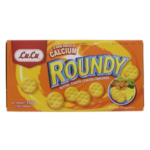 Lulu Roundy Butter Cheese Coated Crackers 150g