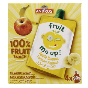 Andros Fruit Snack Apple Banana 4 x 90g