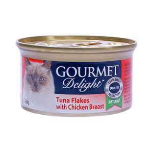 Gourmet Delight Tuna Flakes with Chicken Breast 85g