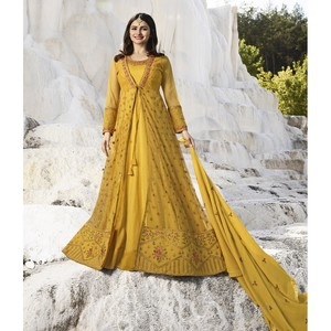 Semi Stitched Women's Gown Suit Vinay Kaseesh Supreme 8523