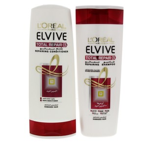 Loreal Elvive Total Repair Shampoo 400ml + Conditioner 400ml