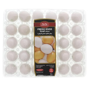 Lulu White Fresh Eggs Small 30pcs