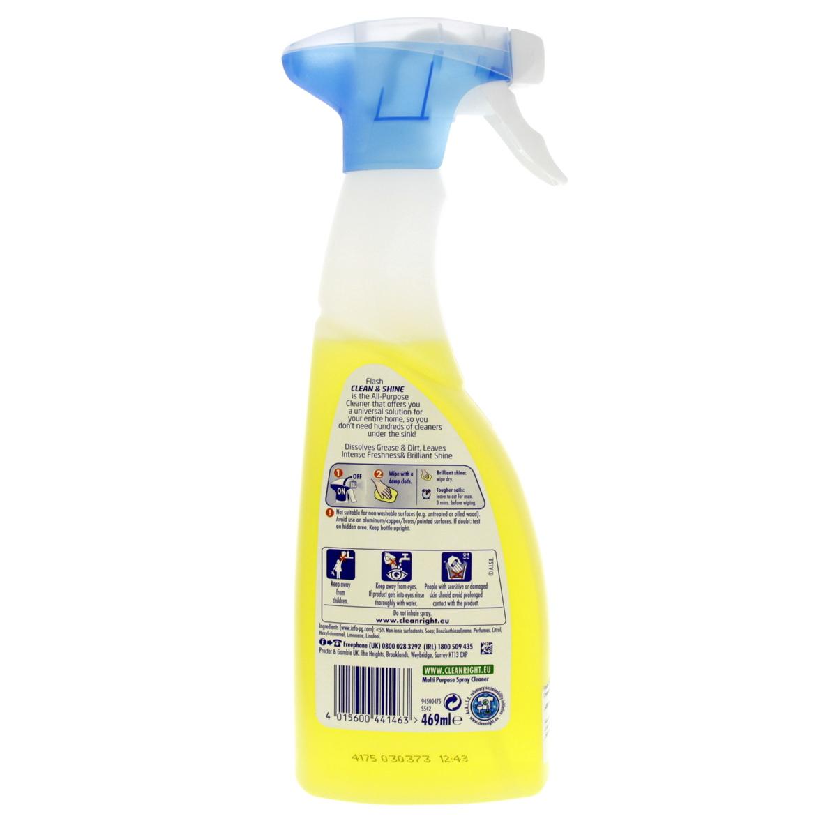 Buy Flash Clean & Shine Lemon All Purpose Cleaner 469ml