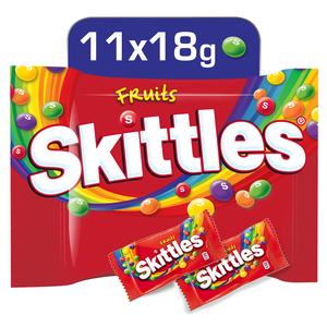 Skittles Candy Coated Chewy Lens Fruit 11 x 18g