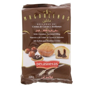 Delasheras Magdalenas With Chocolate Flavoured Filling 220g