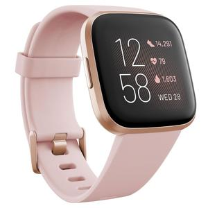 Fitbit Versa 2 Health and Fitness Smartwatch Petal/Copper Rose Aluminum