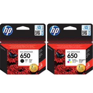 HP Ink Cartridge 650 Black & Tri-Color Combo Pack