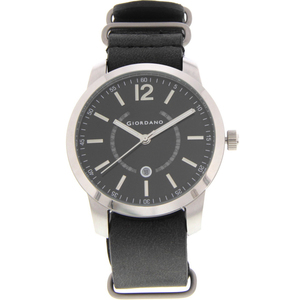 Giordano Men's Anlog Black Strap With Black Dial 1791-01