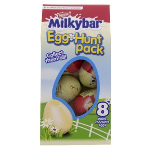 Nestle Milky Bar Egg Hunt Chocolate 8pcs 120g