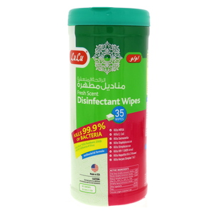 Lulu Disinfectant Wipes Fresh Scent 35pcs