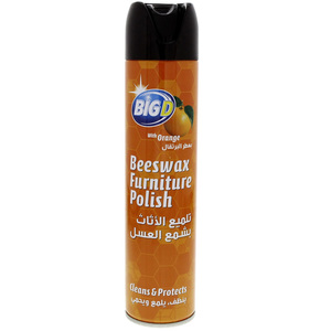 Big D Beeswax Furniture Polish Clean & Protect With Orange 300ml