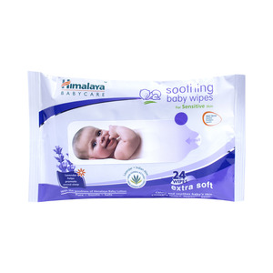 Himalaya Soothing Baby Wipes for Sensitive Skin 24pcs