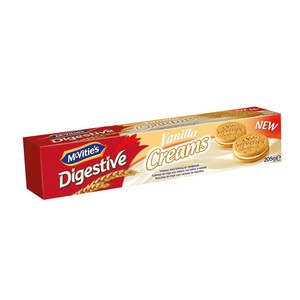 Mcvities Digestive Vanilla Cream Biscuits 205g