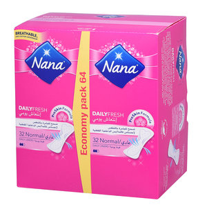 Nana Daily Fresh Pad Normal 2 x 32pcs