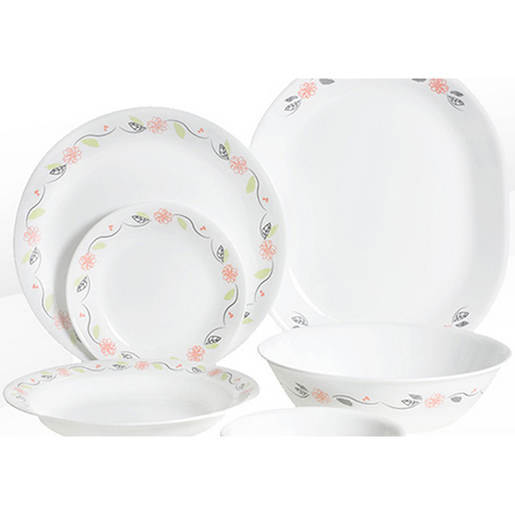 Corelle Dinner Set Tangerine Garden 26pcs