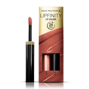 Max Factor Lipfinity Lip Colour Lipstick 2-step Long Lasting 070 Spicy 2pcs