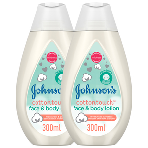 Johnson's Cottontouch Face and Body Lotion 2 x 300ml