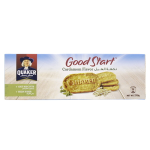 Quaker Good Start Cardamom Flavor Oat Biscuits 210g