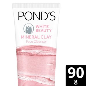 Ponds Face Wash White Beauty Clay Foam 90g