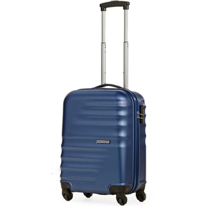 American Tourister Preston 4 Wheel Hard Trolley 55cm Blue