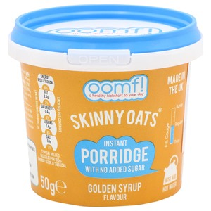 Oomf Skinny Oats Golden Syrup Flavour 50g