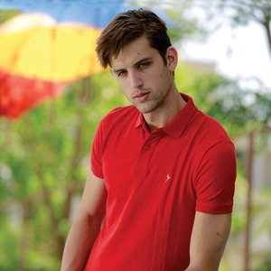 Eten Men's Basic Polo Tees Short Sleeve Barbados Cherry
