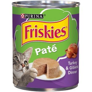 Purina Friskies Wet Can Pate Turkey & Giblets Cat Food 368 Gm