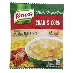 Knorr Real Chinese Crab & Corn Soup 60g
