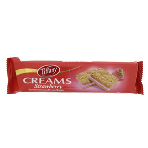 Tiffany Creams Strawberry Flavoured Cream Biscuit 90g