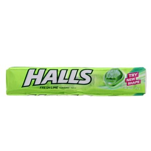 Halls Fresh Lime Flavoured 9pcs