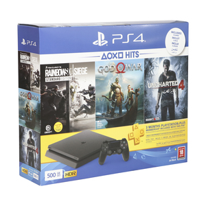 Sony PlayStation4 500GB+Rainbow six+God of War+Uncharted4+PS Plus 90 Days Subscription