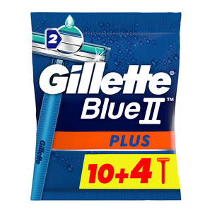 Gillette Blue II Plus Men's Disposable Razors 14pcs