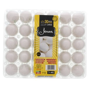 Jenan White Eggs Large 30pcs