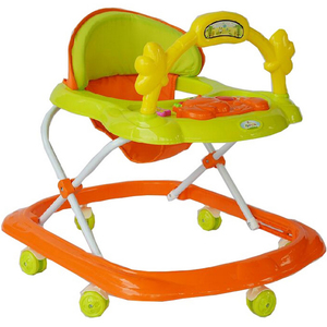 First Step Baby Walker 355 Green/Orange