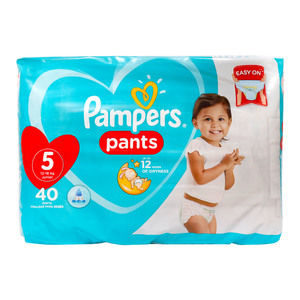 Pampers Diaper Pants Value Pack Size 5 12-18kg 40 Count