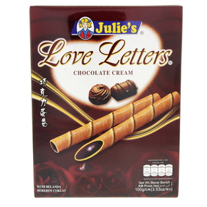 Julie's Love Letters Chocolate Cream 100g