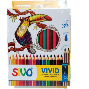 Sivo Vivid Color Pencil 36's