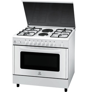 Indesit Cooking Range KNB21SWEX 4Burner + 2 Hot Plate