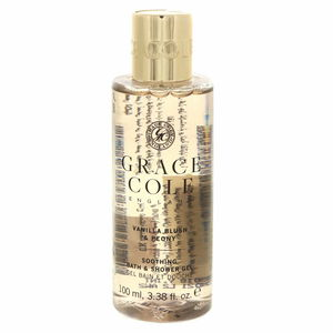Grace Cole Soothing Bath And Shower Gel Vanilla Blush And Peony 100ml