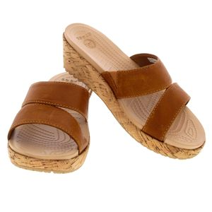Crocs Ladies Sandal Cocoa/gold