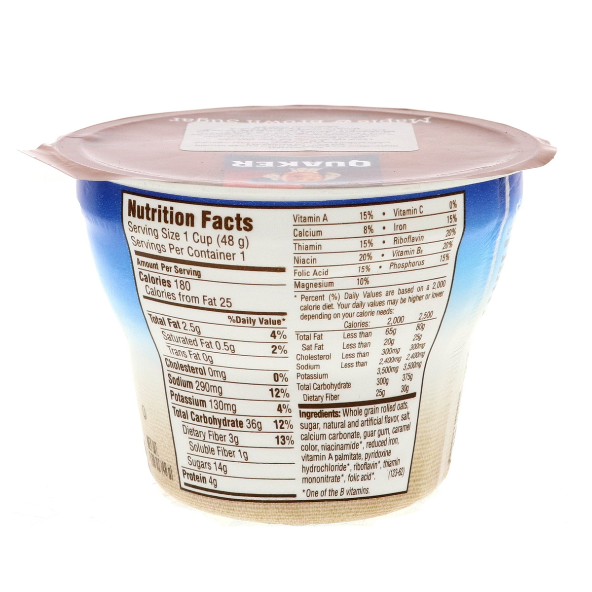 Buy Quaker Instant Oatmeal Maple And