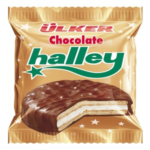 Ulker Cikolatali Halley Chocolate Coated Sandwich Biscuit 26g