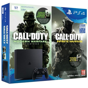PS4 1TB Slim Console + Call Of Duty Infinity Warfare + Modern Warfare Remasterd DLC
