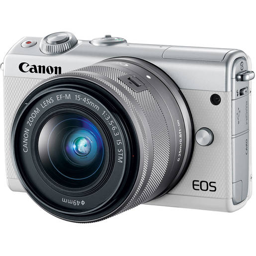 Canon Mirrorless Camera EOS M100 15-45 IS White