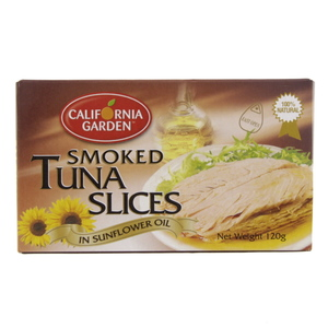 California Smoked Tuna Slices In Sunflower Oil 120g