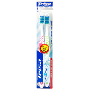 Trisa Toothbrush Flexible Soft 2pc Assorted Colours