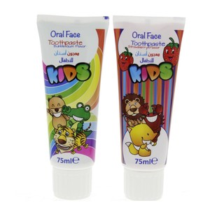 Oral Face Kids Toothpaste Assorted Flavor 75ml x 2pcs